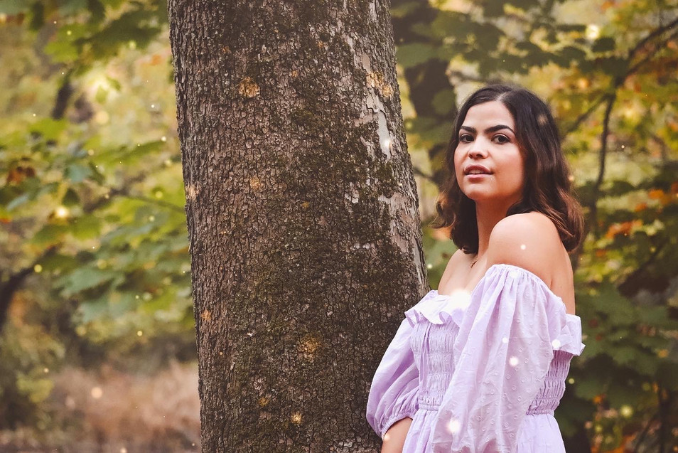 INTO THE WOODS / OCT 2020 Makeup: Lipstick & Magic Tricks Photo: Flint & Flower Photography Model: @ashkrivera