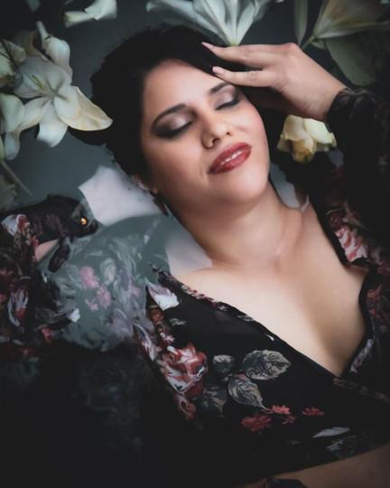 BLOOM / APRIL 2021 Makeup: Lipstick & Magic Tricks Photo: Flint & Flower Photography Model: @giselcostaaerials