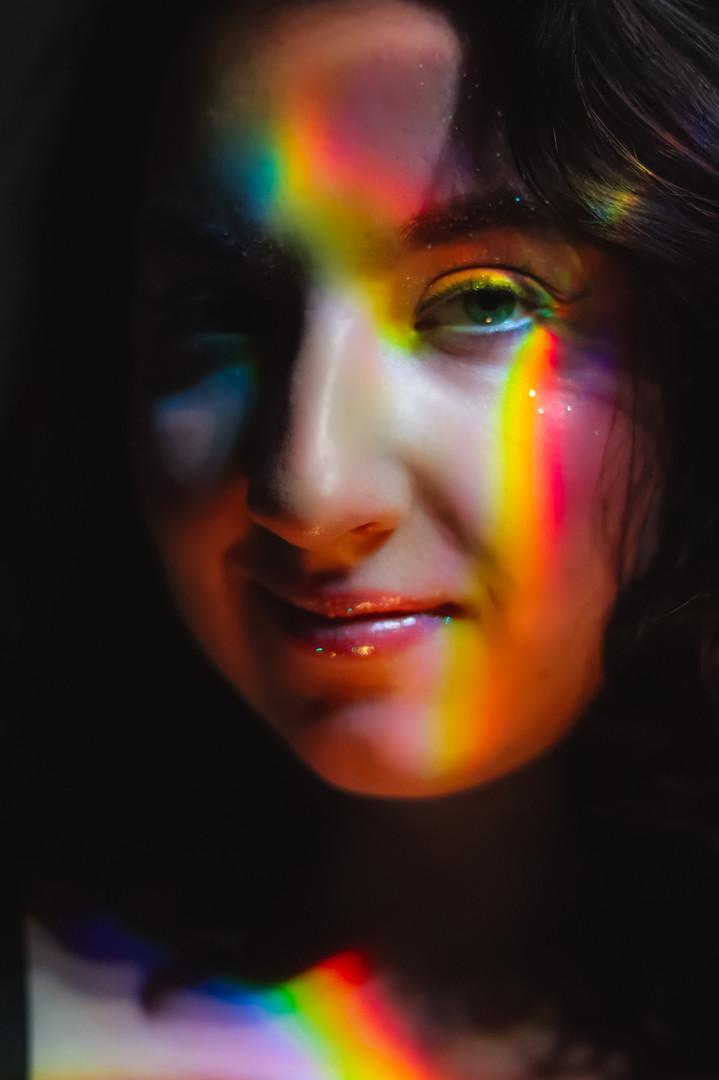 PRISMS / JAN 2021 Makeup: Lipstick & Magic Tricks Photo: Flint & Flower Photography Model: @totallytootsie
