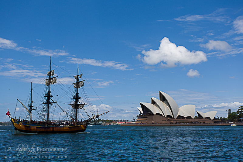18th century ships meet modern day Sydney