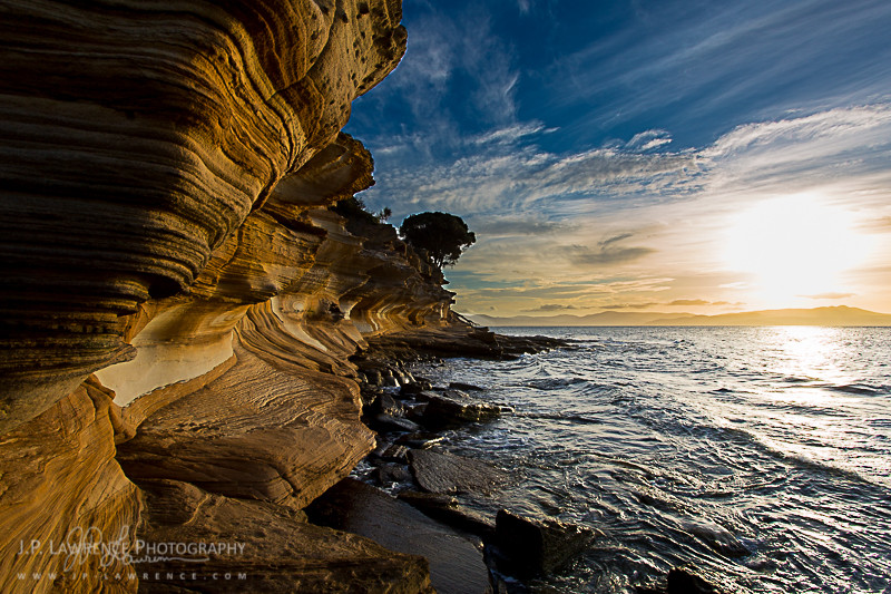 Painted Cliffs at Maria Island National Park