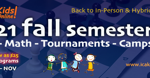 International Chess Academy (ICA) releases its Back to School schedule of classes and events
