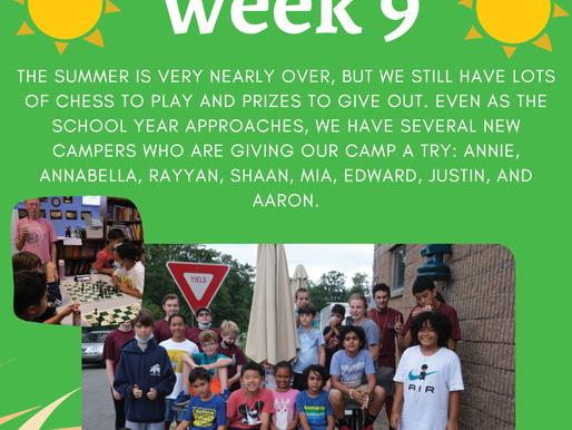 Week Nine - Teaneck Summer Scholastic Chess Camp