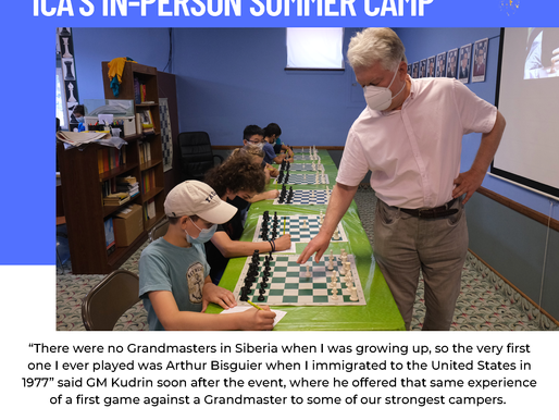 Week Ten of  our 2021 Summer Scholastic Chess Camp in Teaneck
