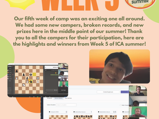 Virtual Summer Chess Camp Week Five - The Report