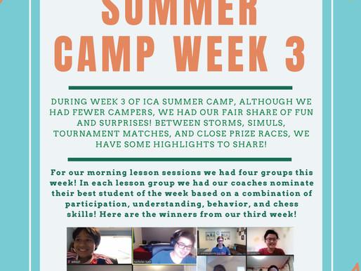 Virtual Summer Chess Camp Week Three - The Report