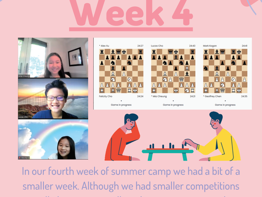 ICA Virtual Summer Chess Camp - Week 4 Report