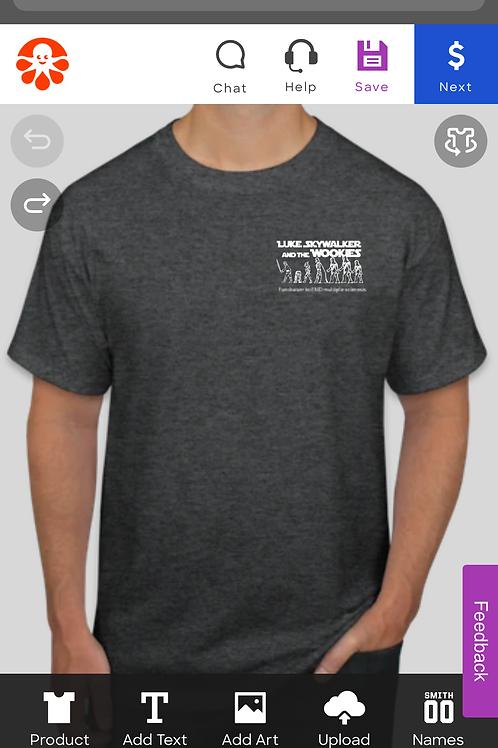COMING SOON Grey T-shirt with pocket logo