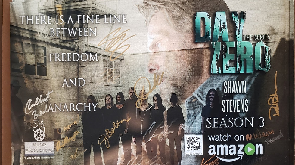 """11"""" x 17"""" Official Day Zero Season 3 poster - SIGNED"""