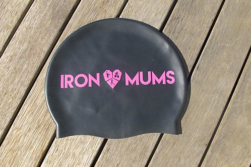 Swimming Cap - Black and Pink