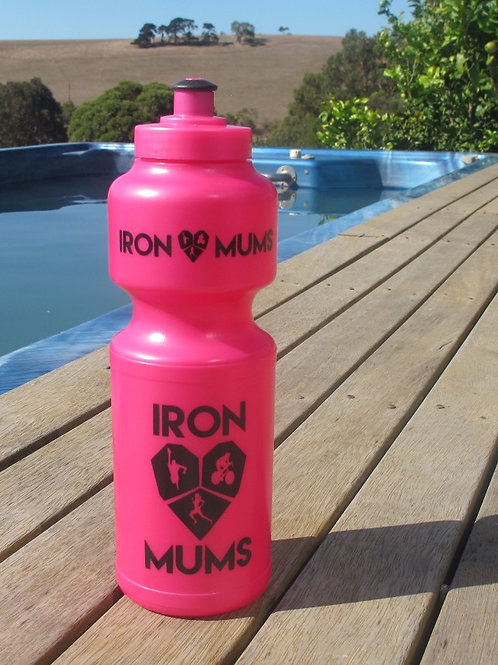 Water Bottle - Pink and Black logo