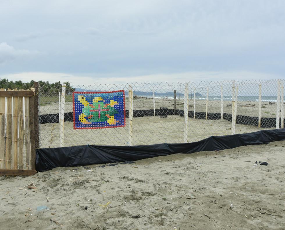 installed on 'Turtle Nest' of Guna Village