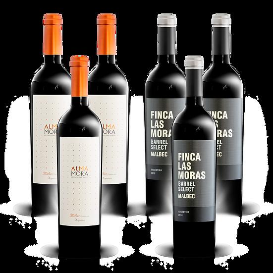Mix Malbec de Finca Las Moras Nº1 · 6 botellas