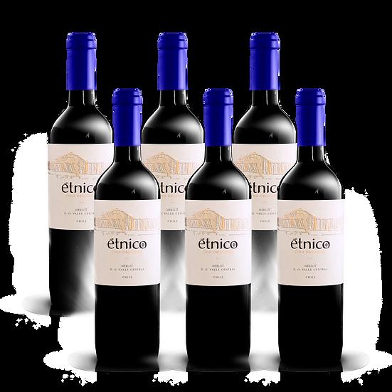 Étnico Reserva · Merlot, 6 botellas