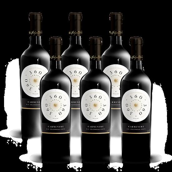 360º Series · Carmenere, 6 botellas