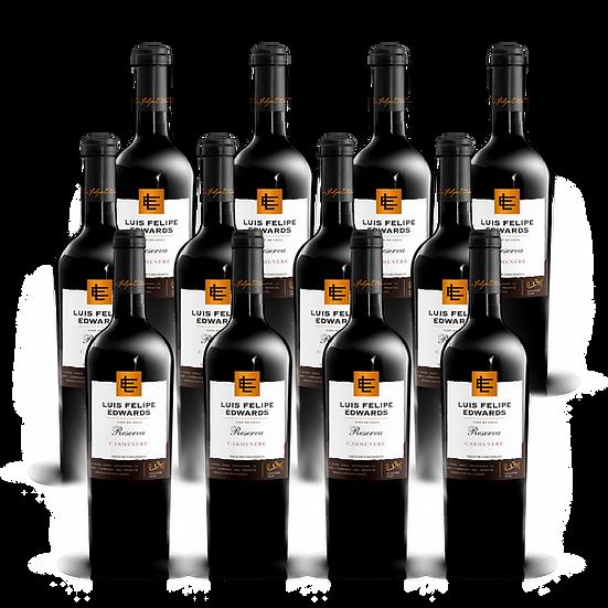 LFE Reserva · Carmenere, 12 botellas