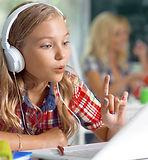 girl recording voice laptop  shutterstoc