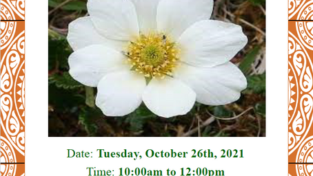 AGM Tuesday Oct. 26th, 10-12 noon by Zoom/telephone only