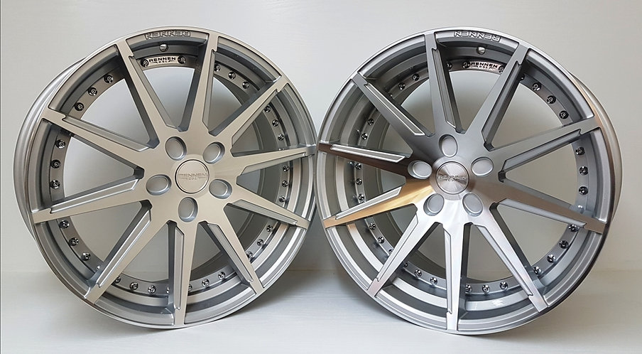 Rennen CSL 6  wheels in 20 staggered for many vehicles silver polished