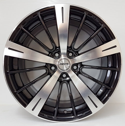 Black & polished old rotor style wheels 5/112, 5/114 or 5/120 staggered 19""