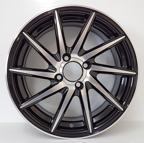 A0926 Black & Polished wheels front view