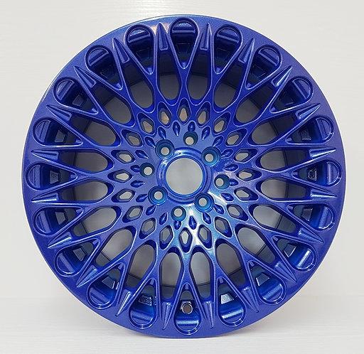 "Blue Candy apple 15 & 16"" wheels 4/100/114.3 DGT wheels face view"
