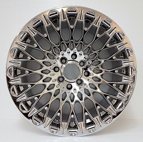 """VC Chrome wheels 4/100/114 16"""" from DGT wheels front view"""