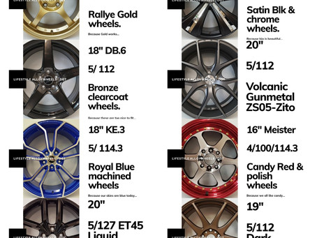 Lifestyle alloy wheels from DGT..