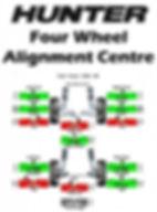 Alignment computer printout.