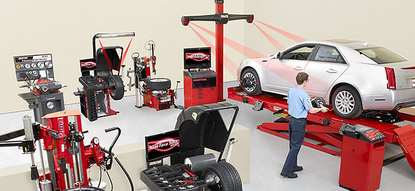 4wheel alignment in operation
