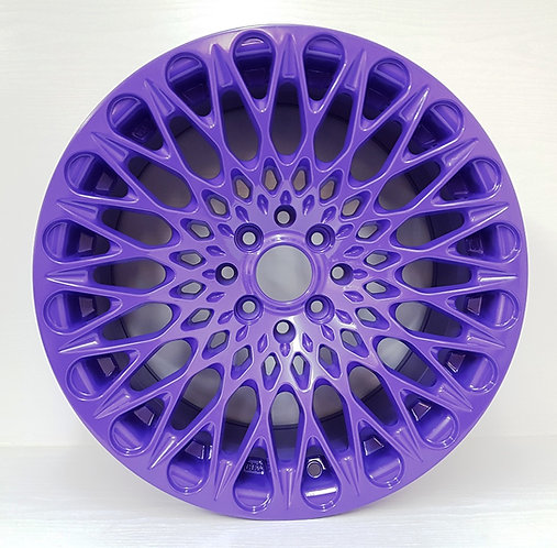 Gloss Purple alloy wheels, concave style