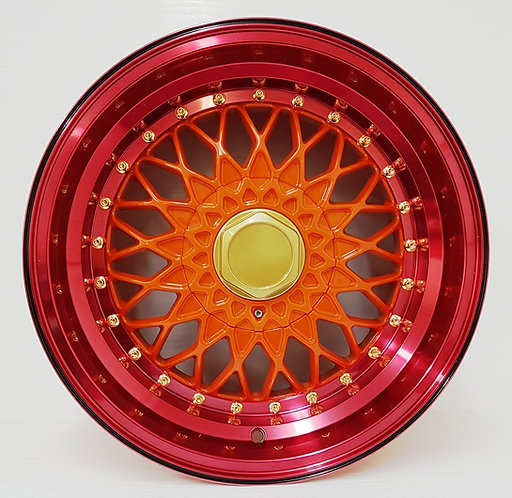 B0224 Orange Centre & Red Anodised Lip