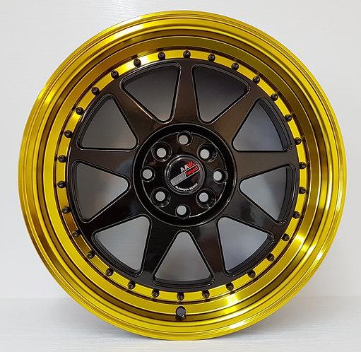 A1617 Black & Gold Polished