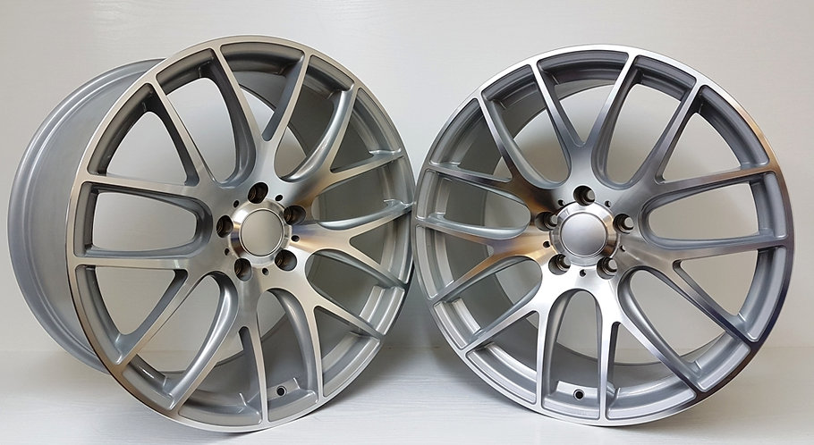 Silver & Polished B0396 wheels staggered view