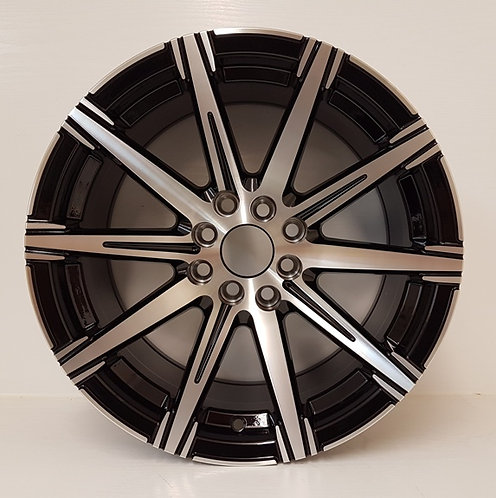 A07317 Gloss Black & Polished spokes