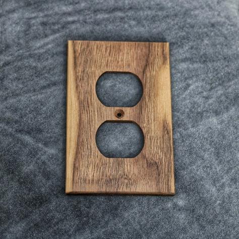 Custom light switch plate cover made from premium hardwoods