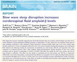 Slow wave sleep and abeta