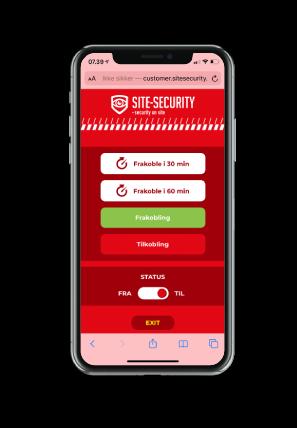 SITE-SECURITY Smartphone App