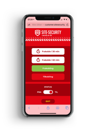 SITE-SECURITY Smartphone App