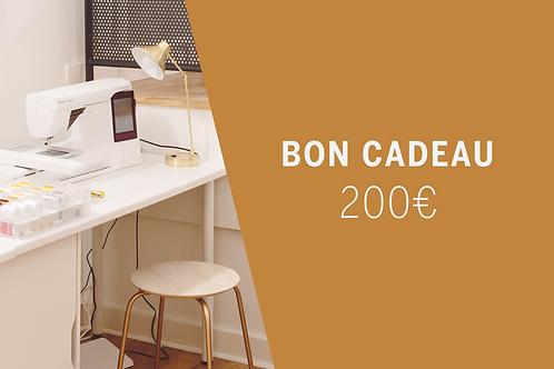 Bon Cadeau imprimable 200€