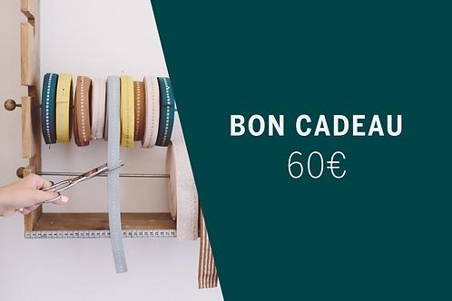 Bon Cadeau imprimable 60€