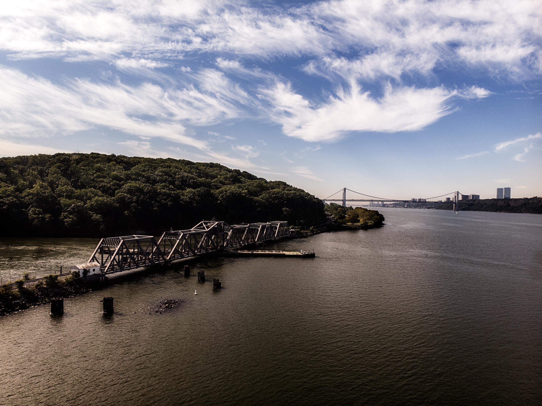Drone Hudson River Amtrak Bronx