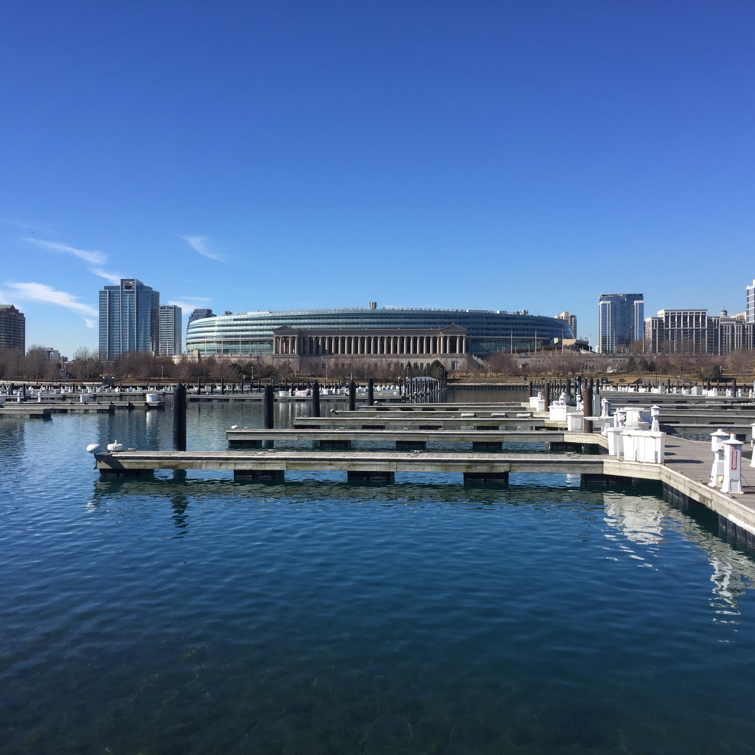 Solider field from Lake