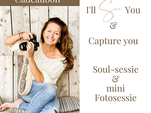 Cadeau-bon Soulsessie & Mini photoshoot en voor de gever een mini reading