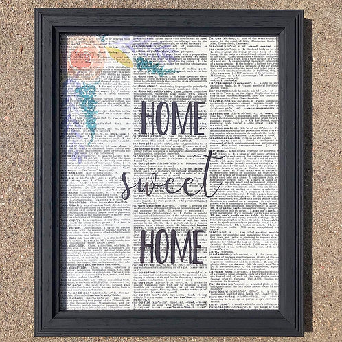 Upcycled Frame with Watercolor and Quote