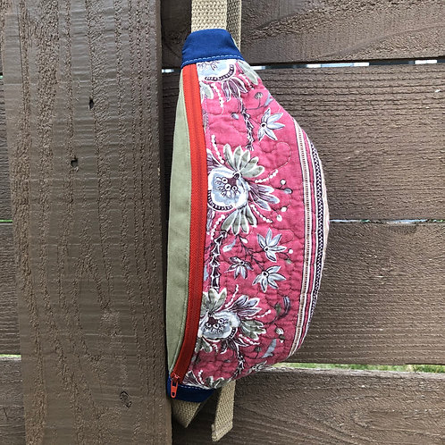 Red Floral -- Small - Quilted