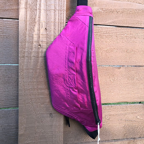 Iridescent Magenta with Floral --Large - Non-Quilted