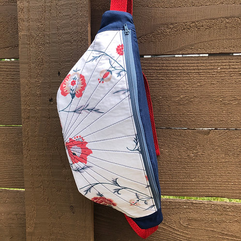 Red and Blue Floral-- Large - Quilted