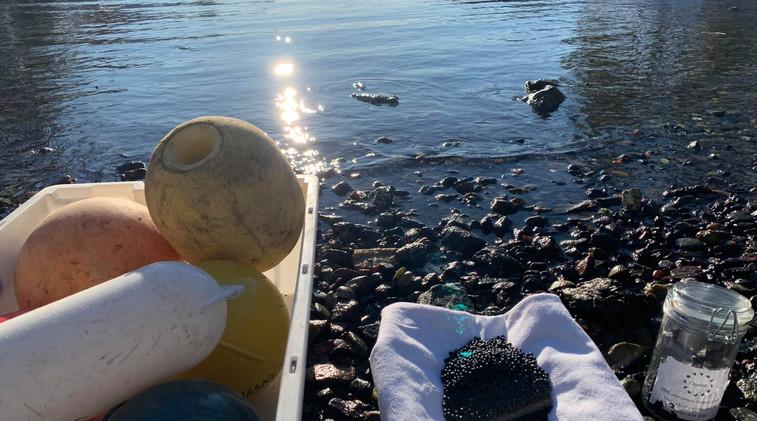 Ogoori marine plastic granulate batch 2.