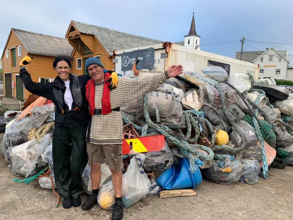 Marine trash that Clean Shores, Ogoori and In The Same Boat picked up along the shores in Bergen.